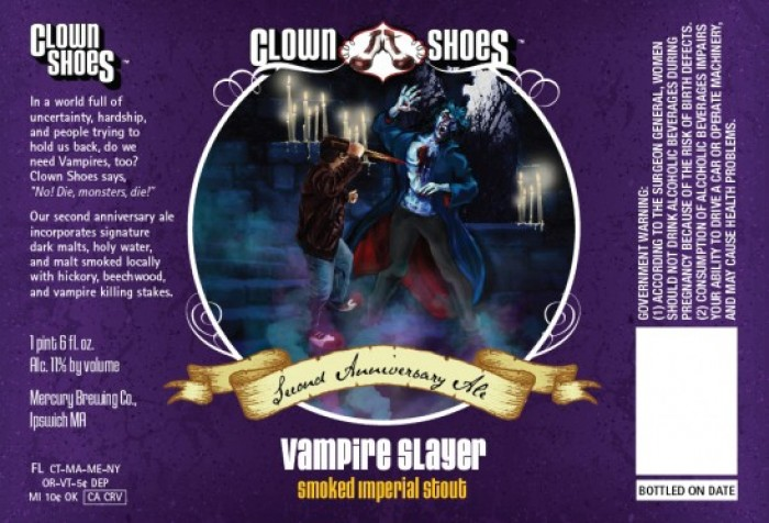 Vampire Slayer Beer Review / Imperial Stout / Clown Shoes Brewery / 10