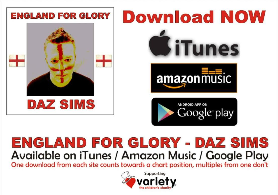 Daz Sims – England For Glory