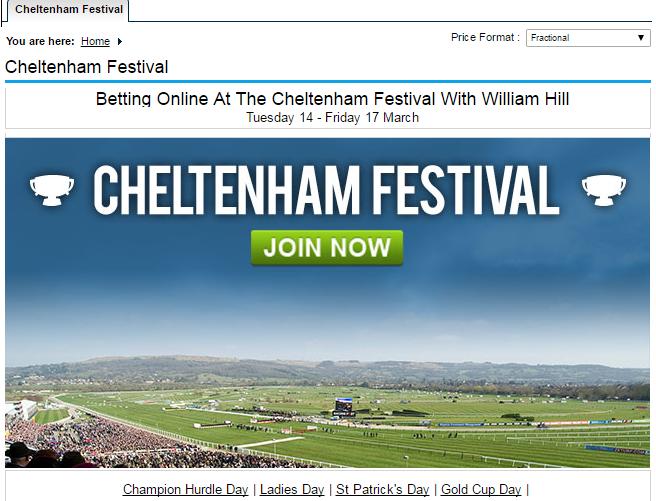 bet on Cheltenham Festival 2017