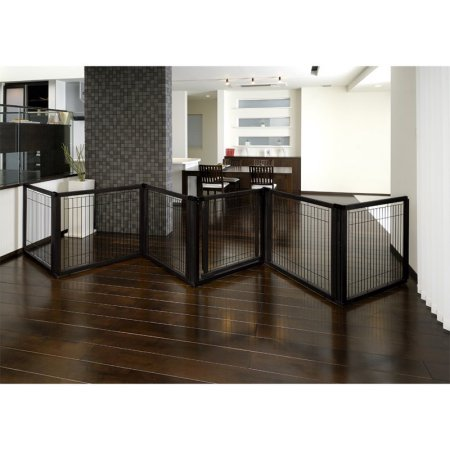 Convertible Elite Pet Gate 6-Panel in Black