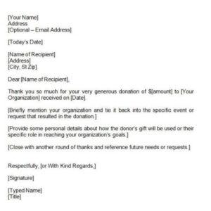 7 donation receipt templates and their uses neufutur magazine